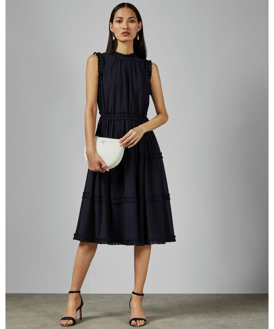 Image for Ted Baker Sinita Tie Waist Midi Dress, Navy