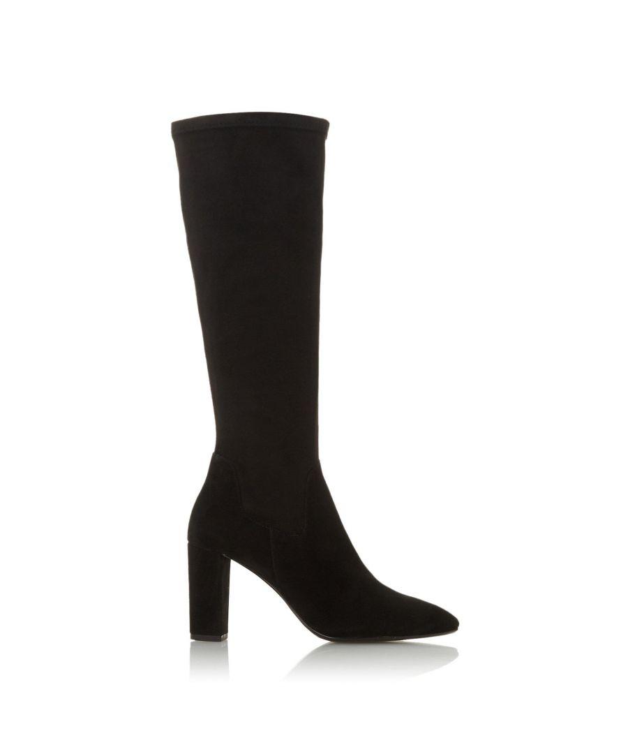 Image for Dune Ladies SIREN Stretch Block Heel Almond Toe Boots