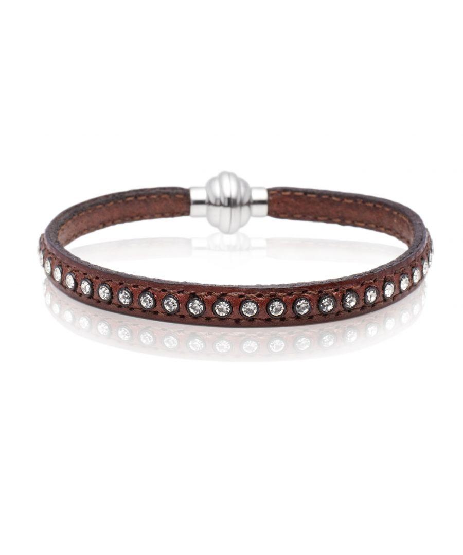 Image for AREZZO brown bracelet w/zirkonia