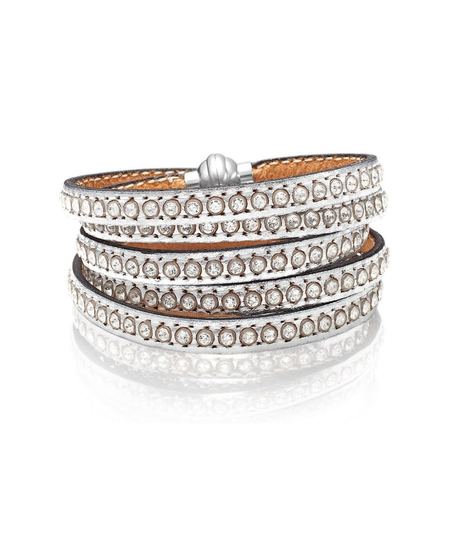 Image for AREZZO silver bracelet w/zirkonia