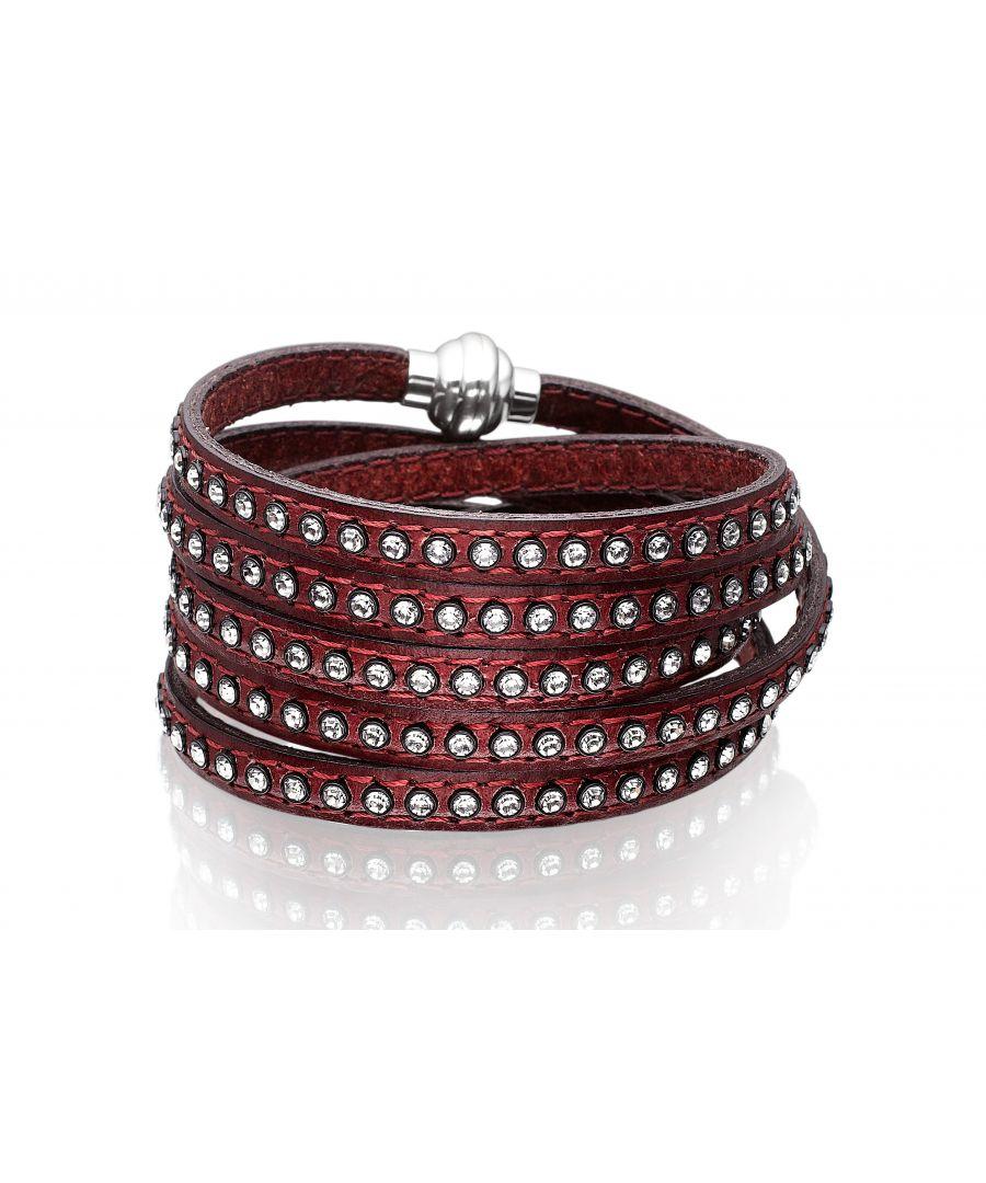 Image for AREZZO bordeaux bracelet w/zirkonia