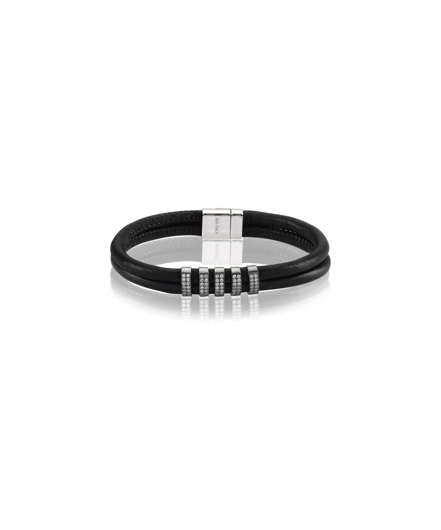 Image for MODENA DUE/CINQUE LEATHER BRACELET