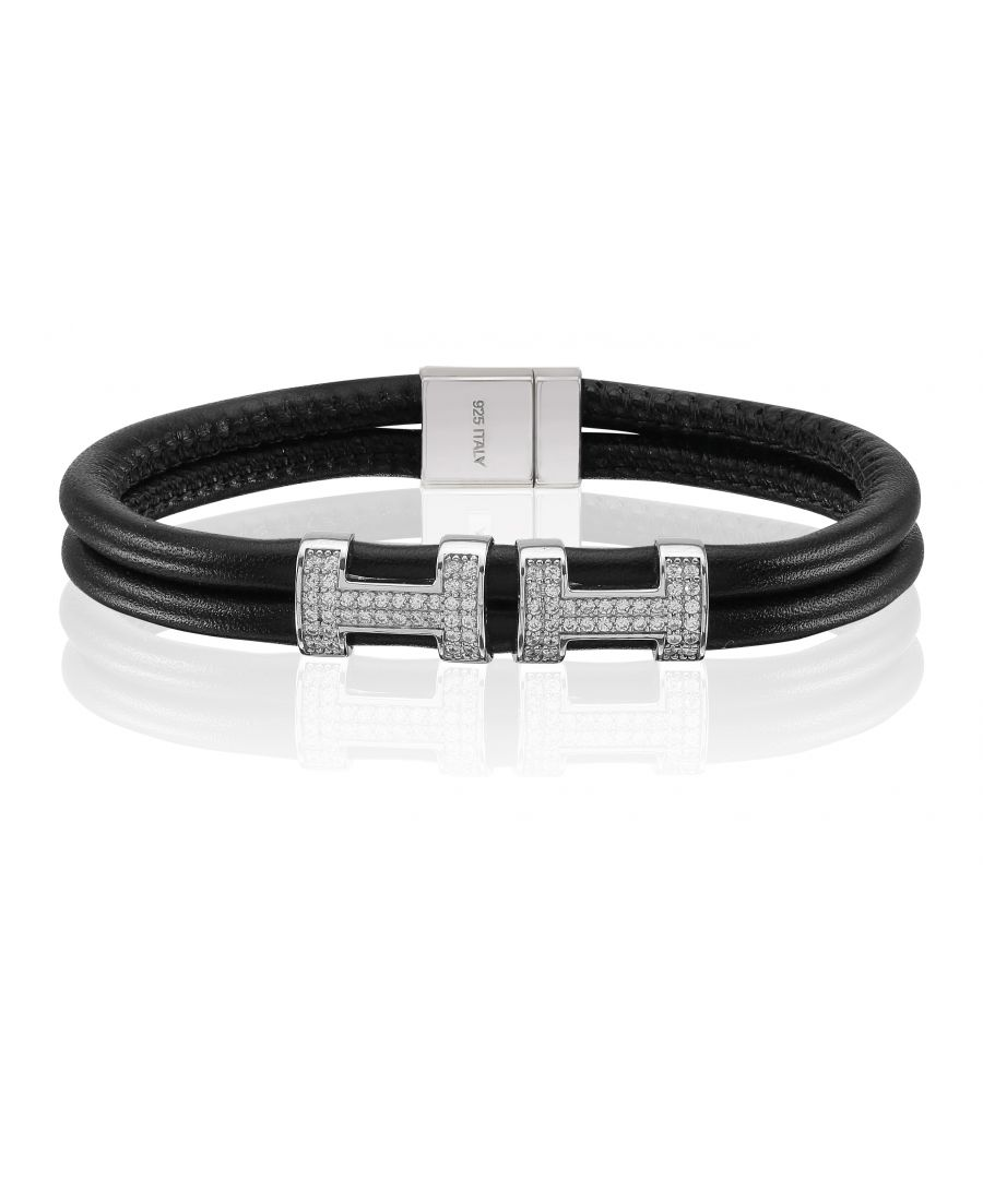 Image for MODENA TRE DOPPIO LEATHER BRACELET