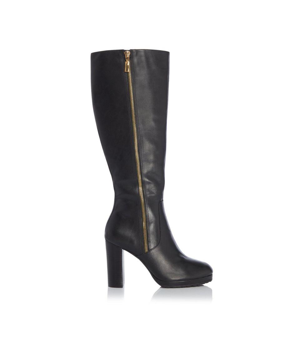 Image for Dune Ladies SKY Side Zip Knee High Platform Boots
