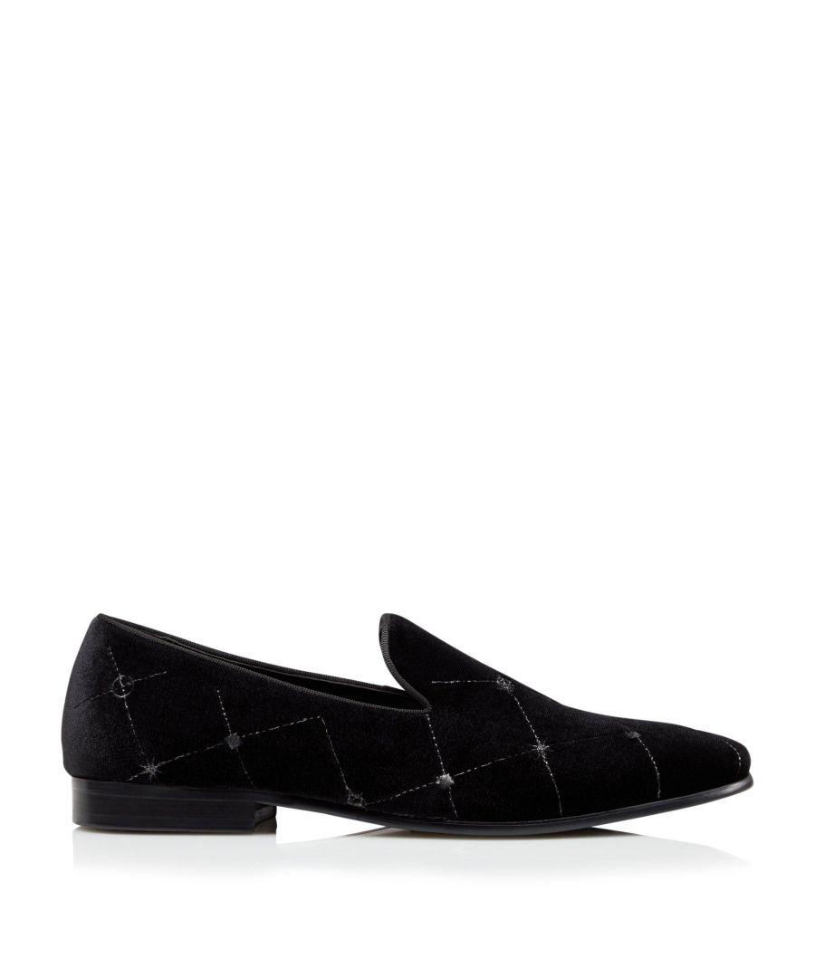 Image for Dune Mens SLEEKS Smart Embroidered Velvet Loafers