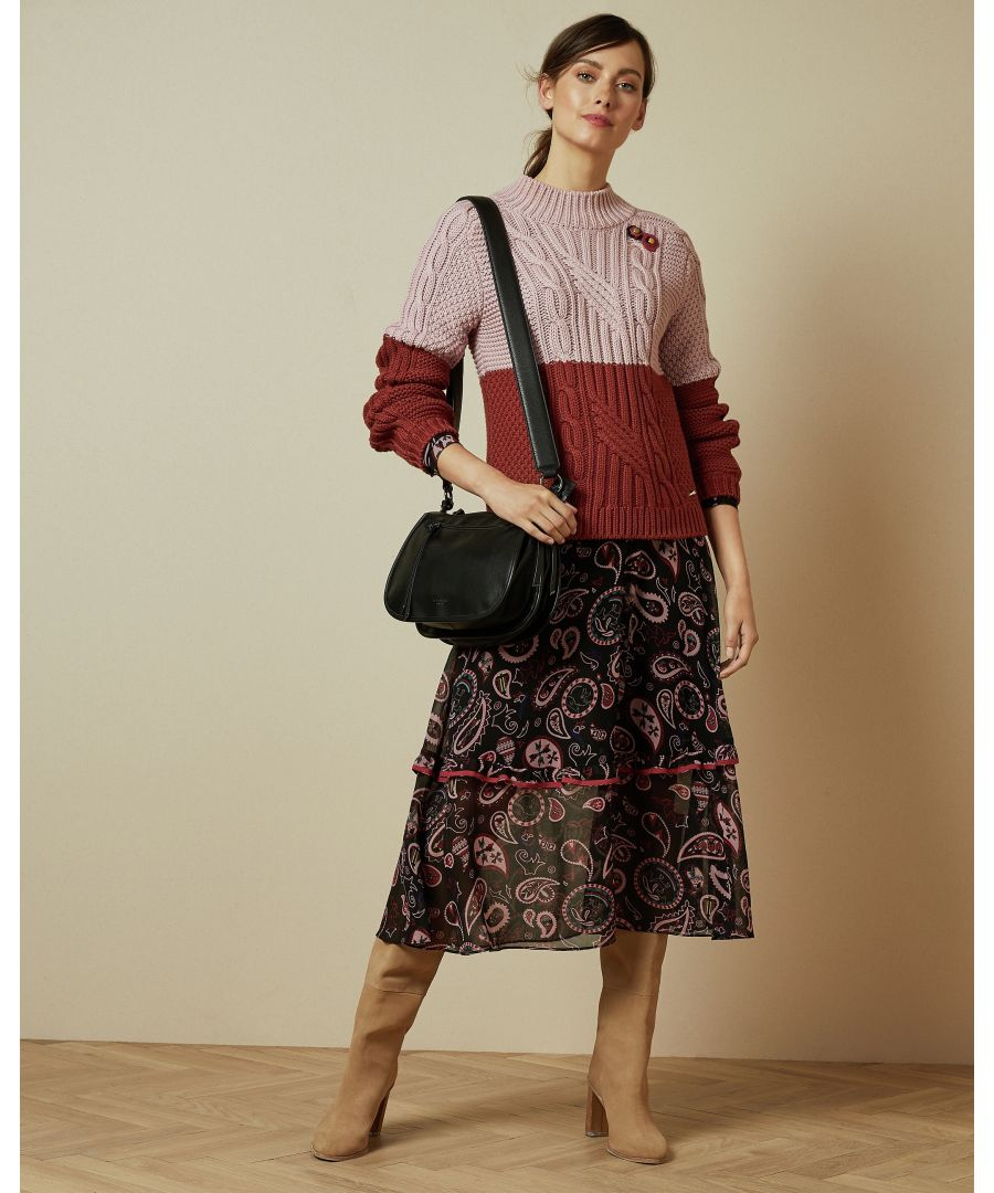 Image for Ted Baker Slimbo Cbn Chunky Cable Knit, Pink