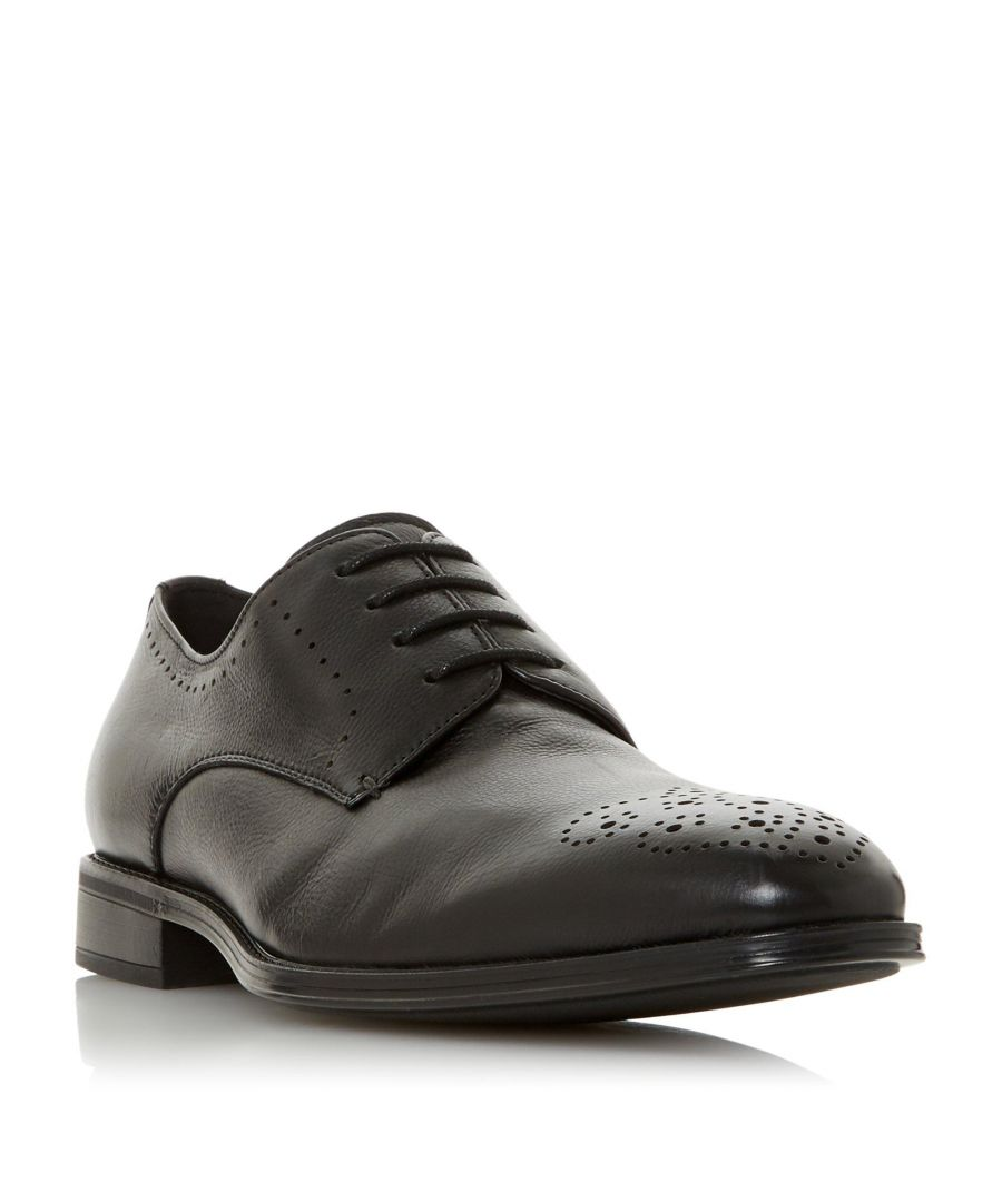 Image for Dune Mens SMOKE Punched Hole Gibson Shoe