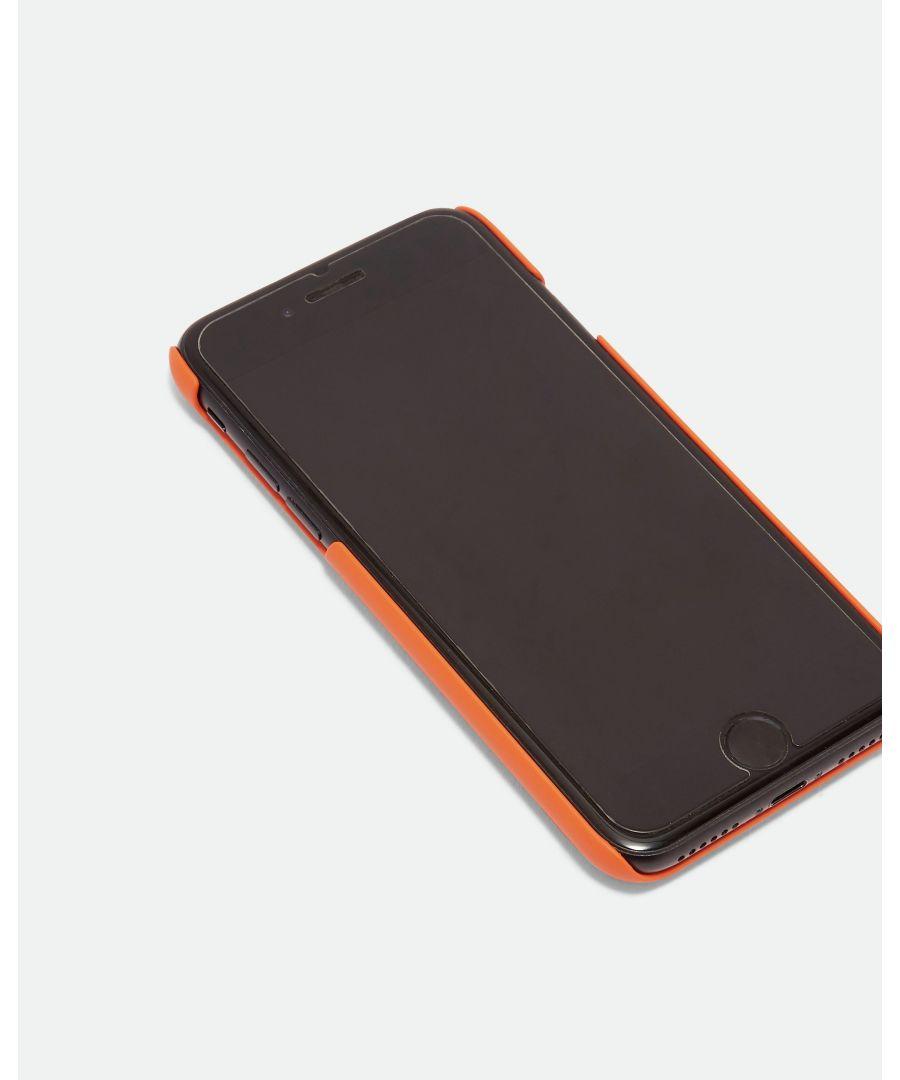 Image for Ted Baker Snakke Rubber Pu Clip On Iphone 6 7 8 Case, Orange