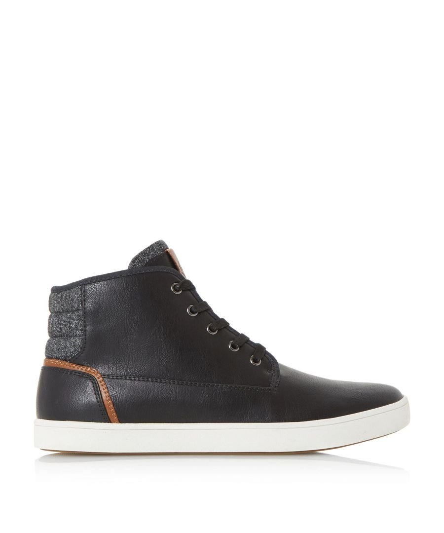 Image for Dune Mens SPACEJAM Contrast Collar High Top Trainers
