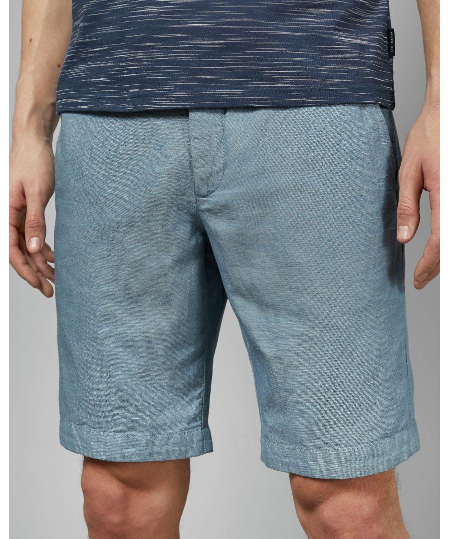 Image for Ted Baker Spainn Linen Short, Light Blue
