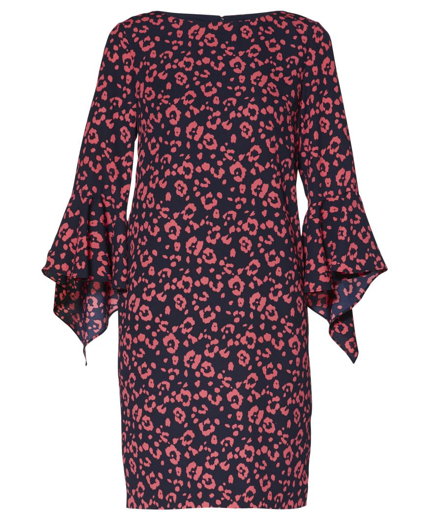 Image for Hattie Print Crepe Dress
