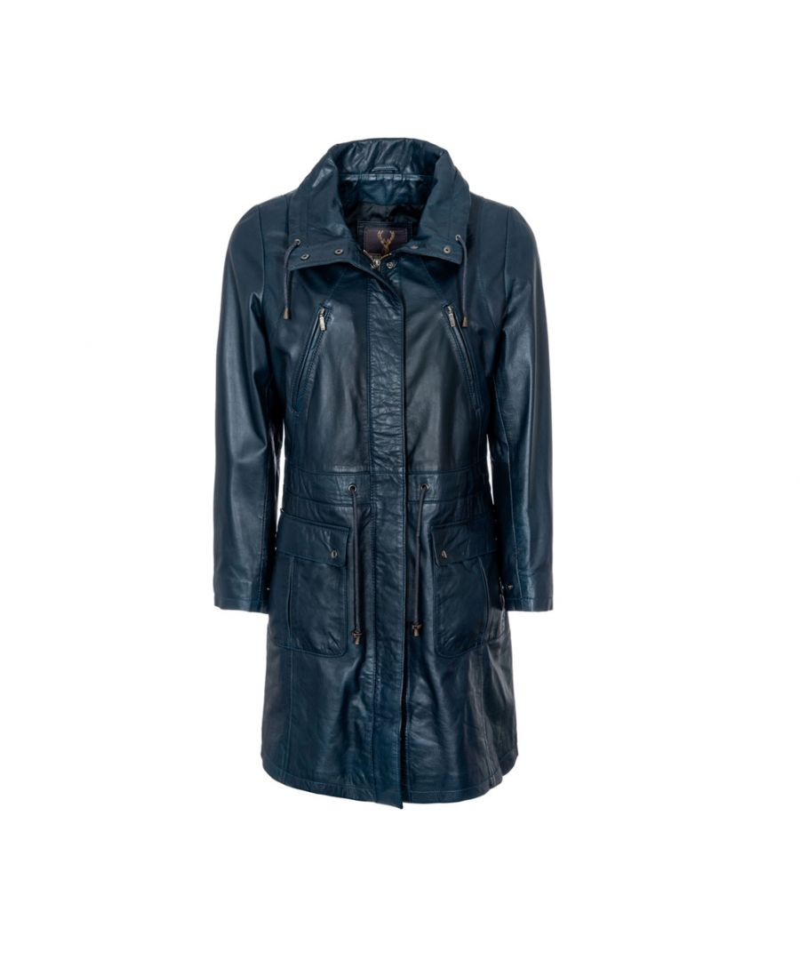 Image for Ladies Navy Classic 3/4 Parka