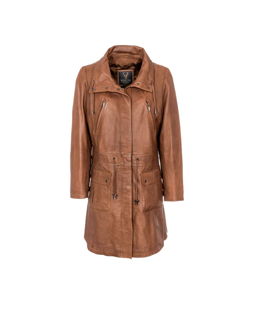 Image for Ladies Tan Classic 3/4 Parka