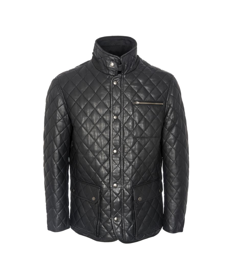 Image for Mens Criss Cross Black Country Coat