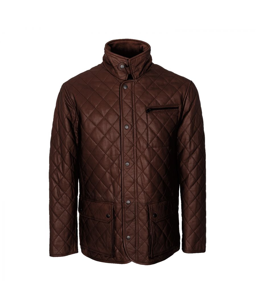 Image for Mens Criss Cross Brown Country Coat