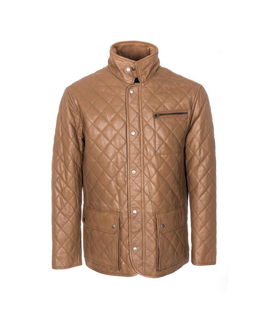Image for Mens Criss Cross Tan Country Coat