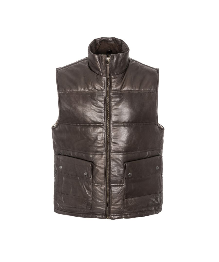 Image for Mens Puffa Gillet Brown Patch Pocket