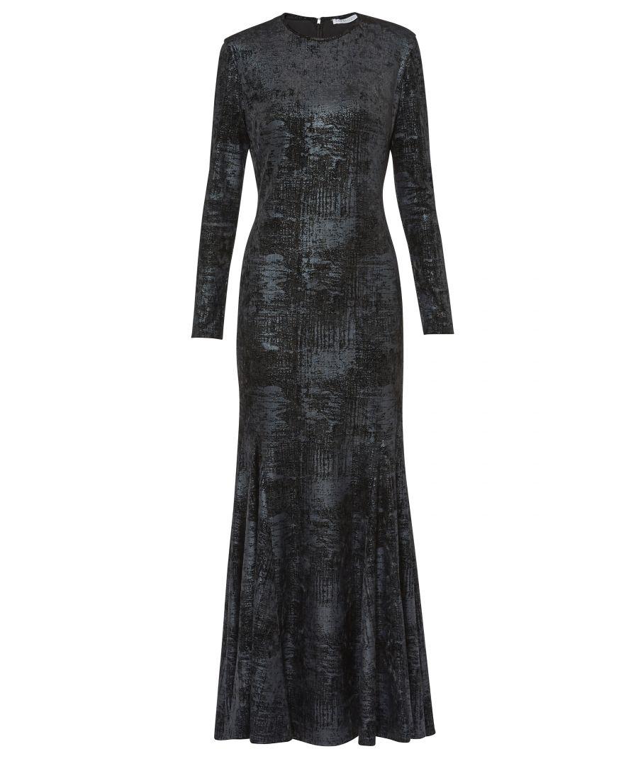 Image for Lovetta Velvet Check  Maxi Dress
