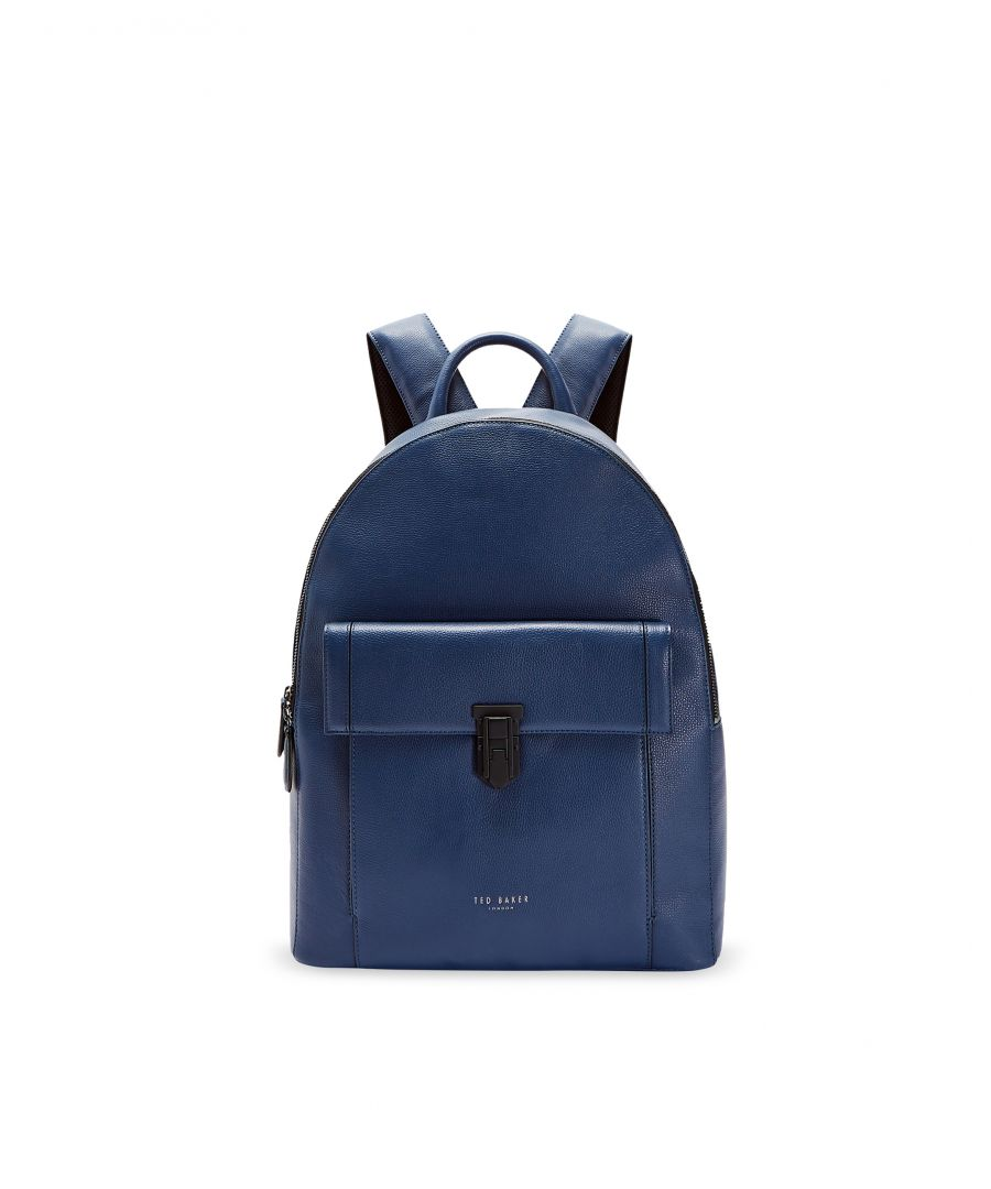 Image for Ted Baker Eastmo Padlock Leather Backpack, Blue