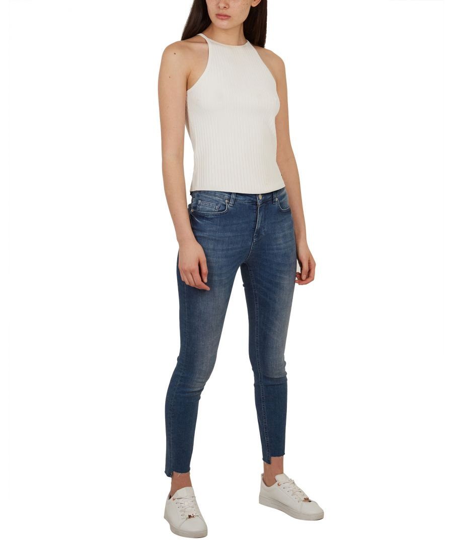 Image for Ted Baker Oranah Split Hem Skinny Jean, Light Blue