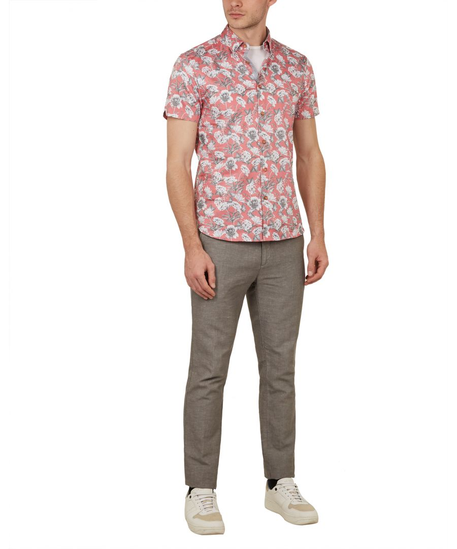 Image for Ted Baker Peachy Floral Shirt, Pink