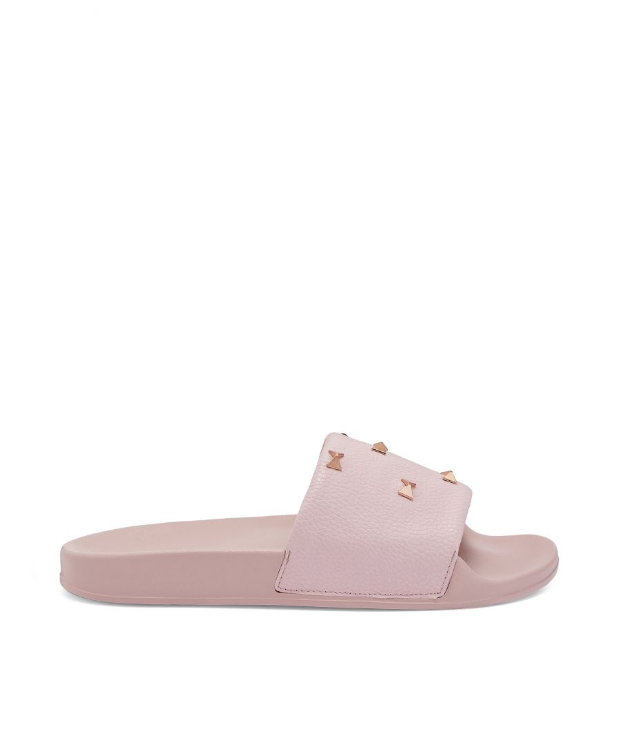 Image for Ted Baker Sydeni Studded Bow Sliders, Light Pink