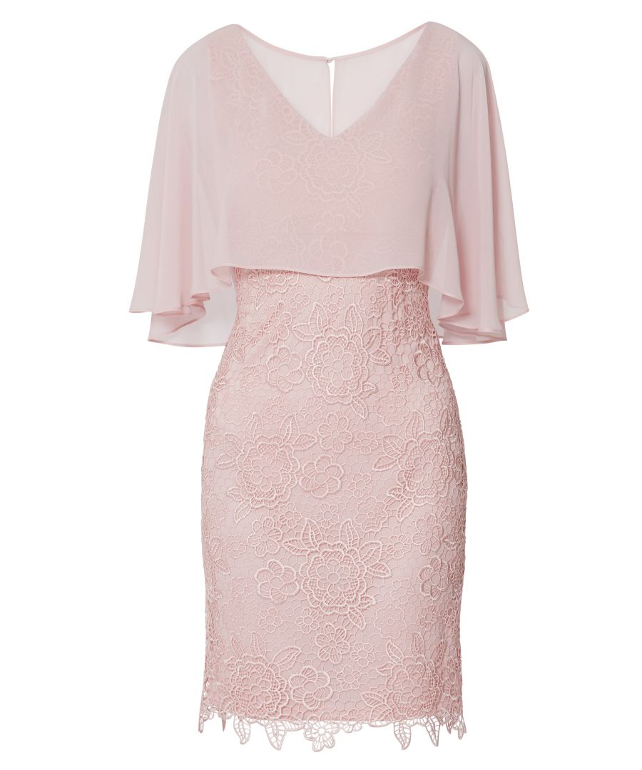 Image for Jonina Embroidered Dress With Cape