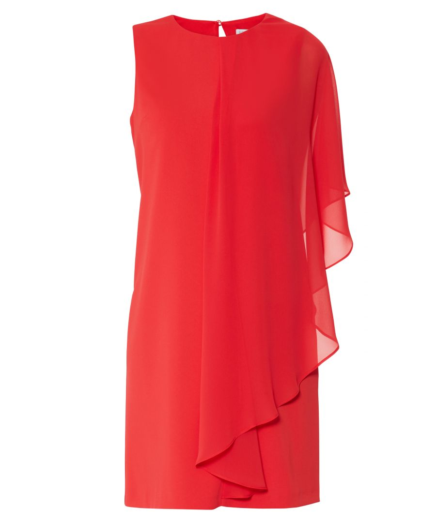 Image for Aletta Moss Crepe And Chiffon Dress