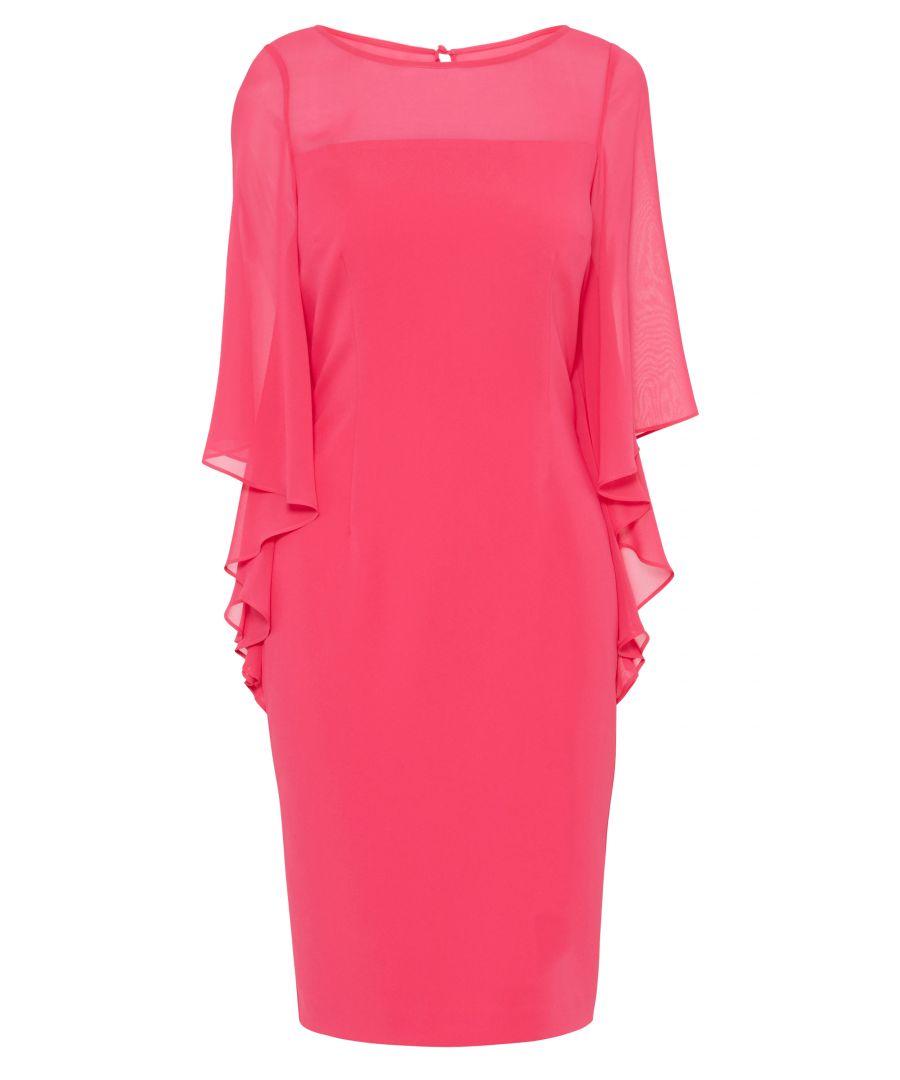 Image for Nilani Moss Crepe And Chiffon Dress