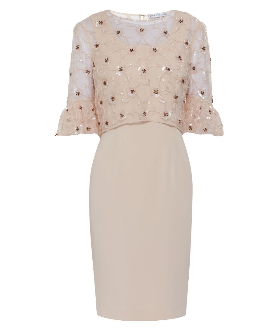 Image for Bayley Beaded Overtop And Crepe Dress