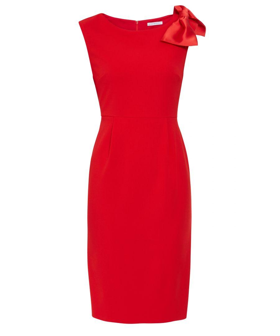 Image for Kailla Scuba Crepe And Satin Bow Dress