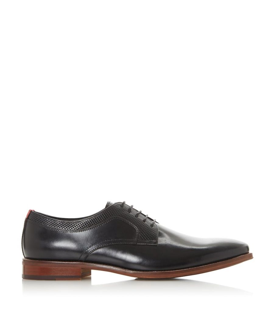 Image for Dune Mens STAFFORD Perforated Detail Lace Up Shoes