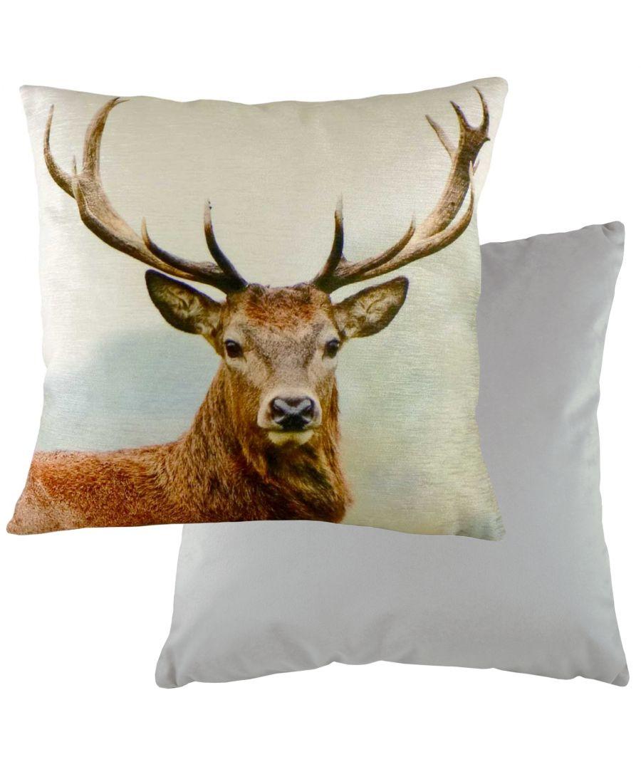 Image for Stags Head Velvet Cushion