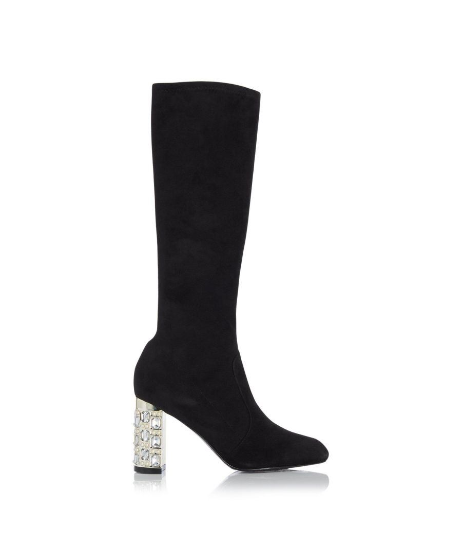 Image for Dune Ladies STARGAZING Jewel And Pearl Detail Heel Knee High Boots