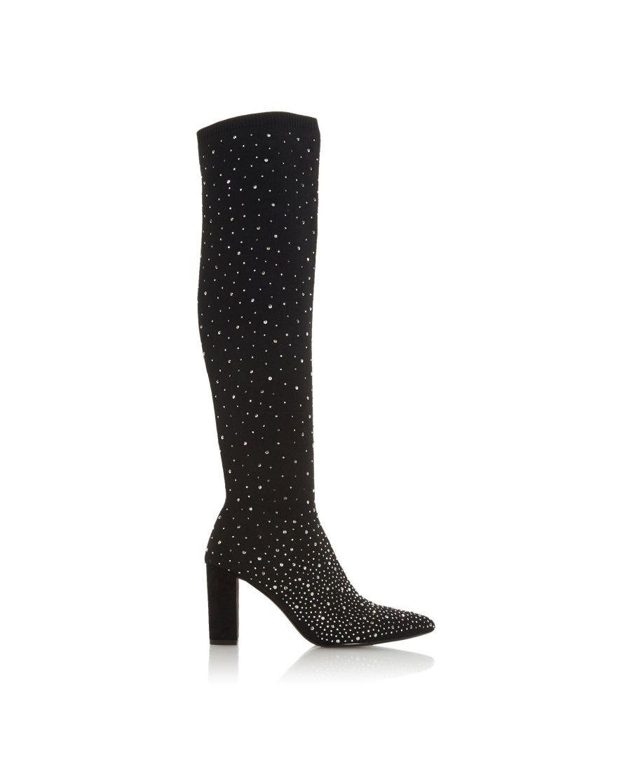 Image for Dune Ladies STARLIGHT Knee High Diamante Sock Boots