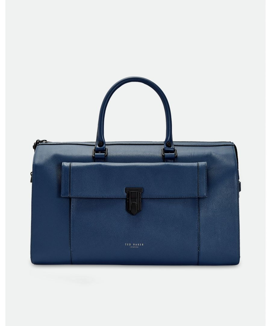 Image for Ted Baker Starmo Coloured Leather Holdall, Blue