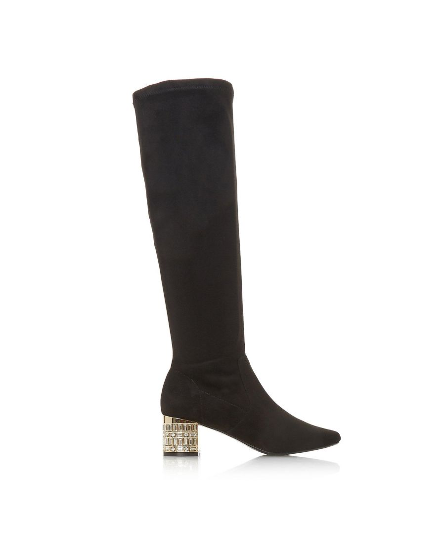 Image for Dune Ladies STARRIE Jewel Embellished Knee High Boots