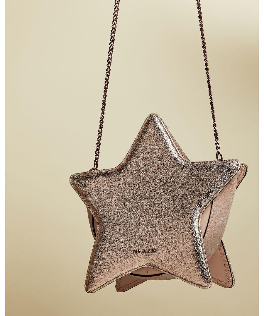 Image for Ted Baker Starry Star Leather Bag in Rose Gold