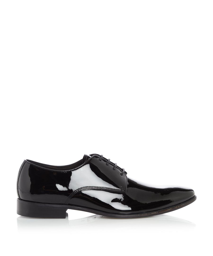 Image for Dune Mens STARS Smart Patent Lace-Up Gibson Shoes
