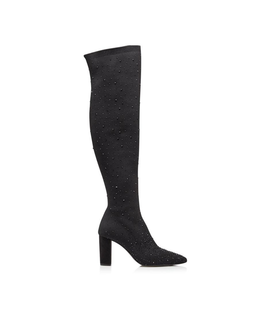 Image for Dune Ladies STARSTRUCK Embellished Over The Knee Sock Boots