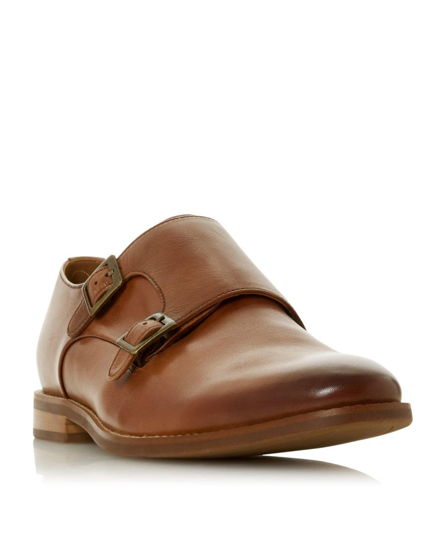 Image for Dune Mens STOWMARKET Double Buckle Monk Shoe