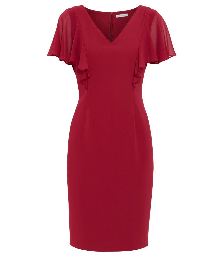 Image for Braila Moss Crepe And Chiffon Dress