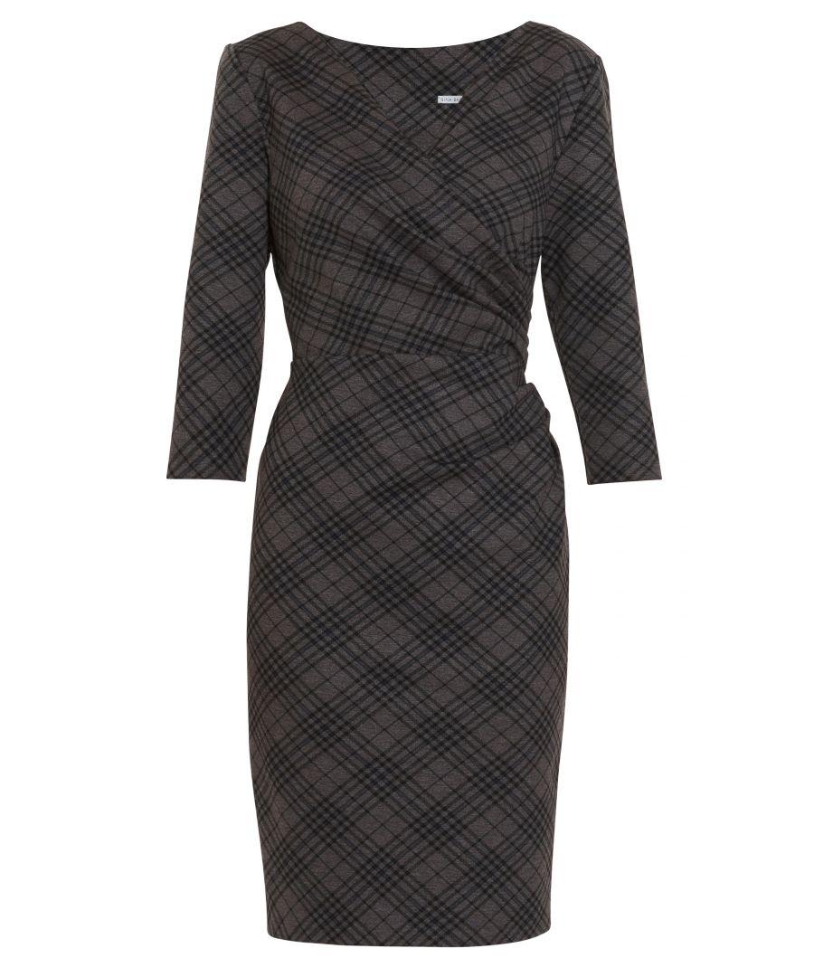 Image for Baila Check Wrap Dress
