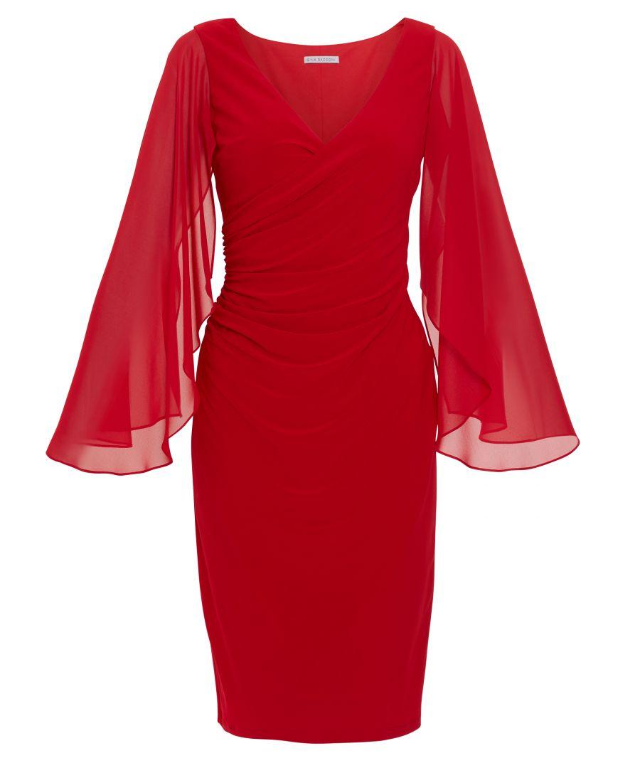 Image for Idina Jersey And Chiffon Dress