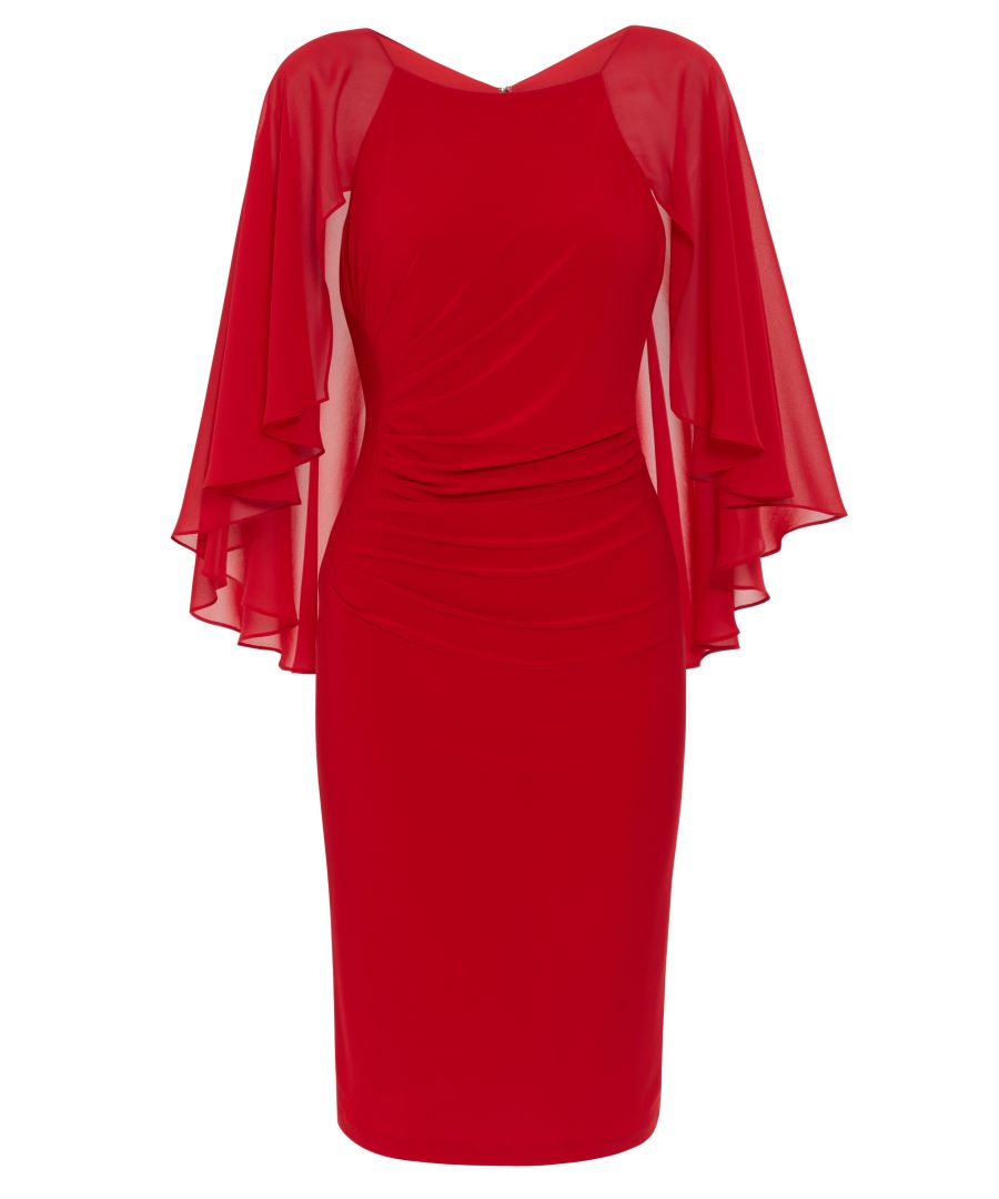 Image for Jarielle Chiffon And Jersey Dress