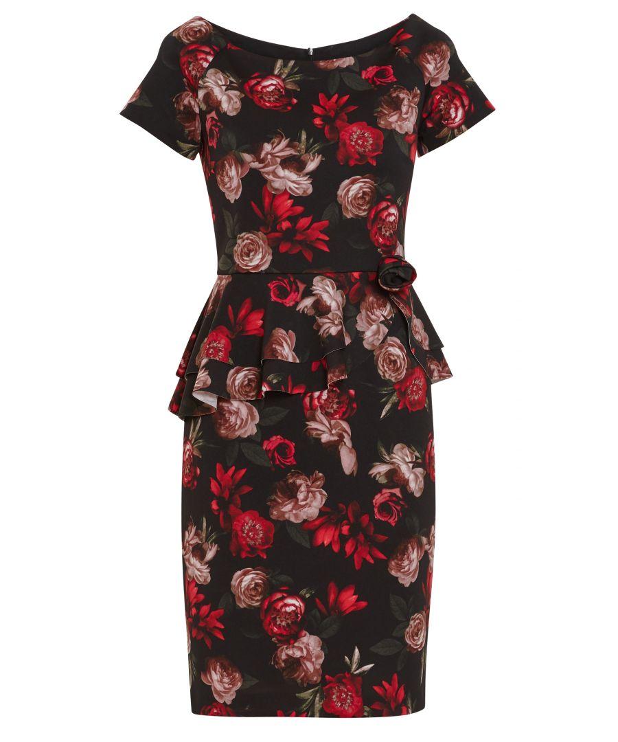Image for Glorielle Floral Scuba Dress