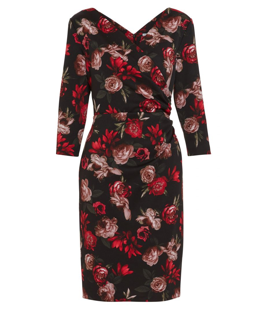 Image for Grecia Floral Wrap Dress