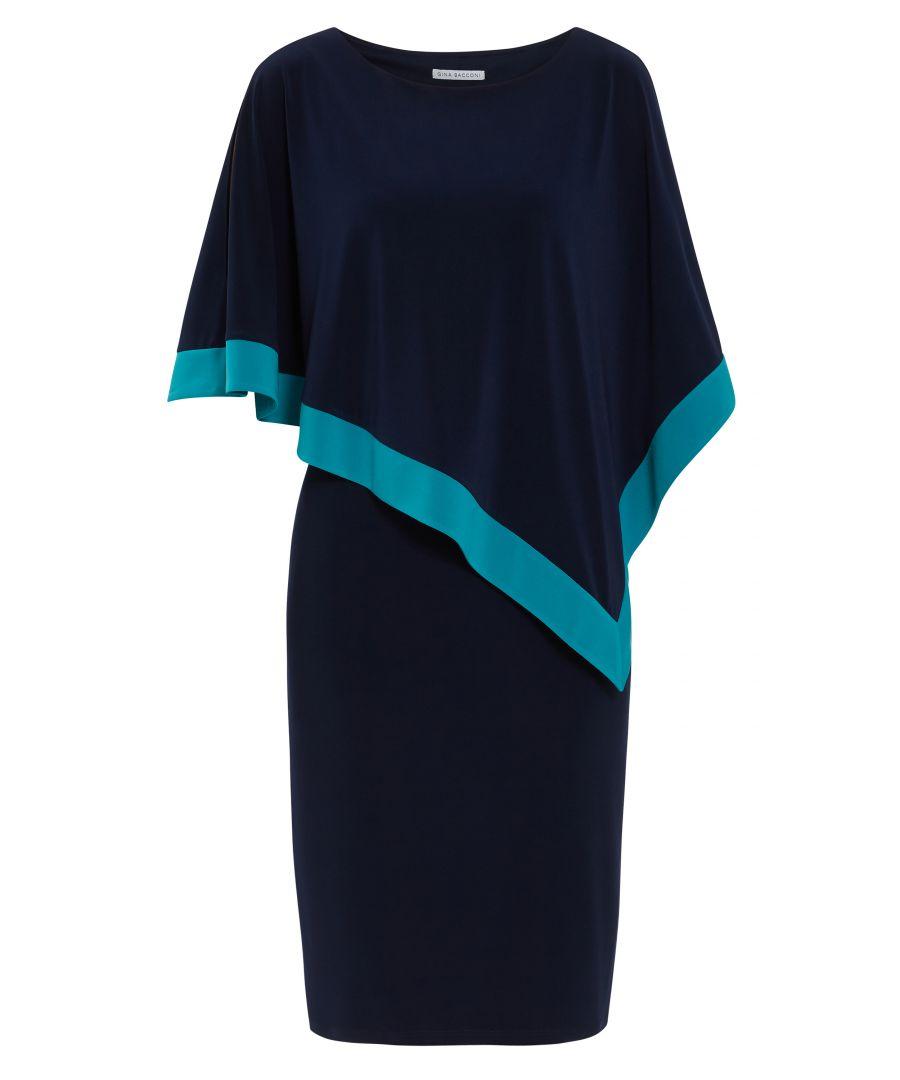 Image for Sayuri Jersey Cape Dress
