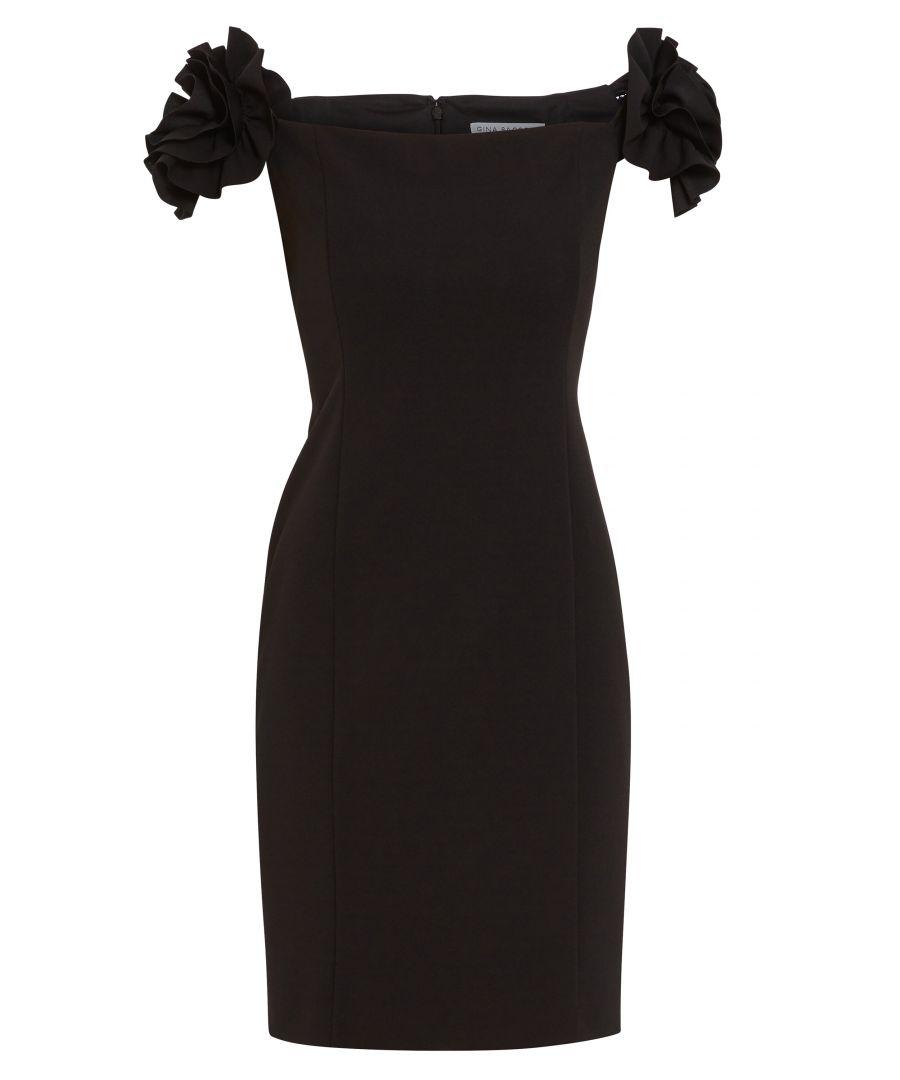Image for Bretta Stretch Crepe Dress