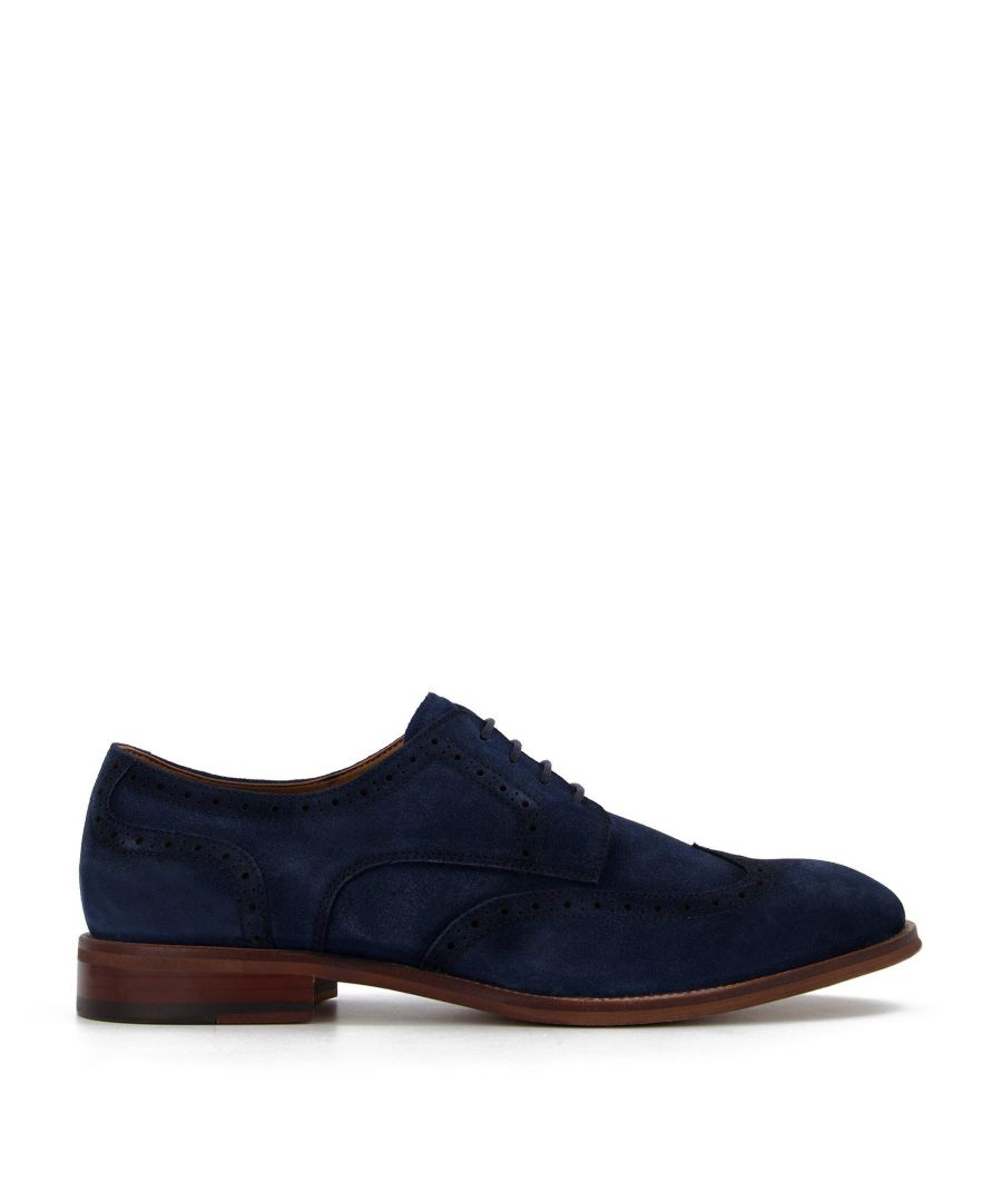 Image for Dune Mens SULPHUR Washed Suede Brogues